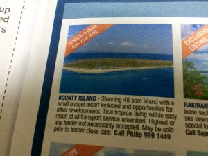 bounty island for sale